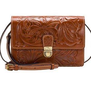 Patricia Nash Lanza Leather Crossbody Bag, NWT